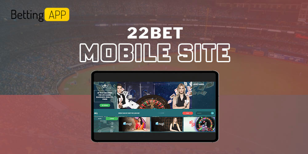 22bet mobile site