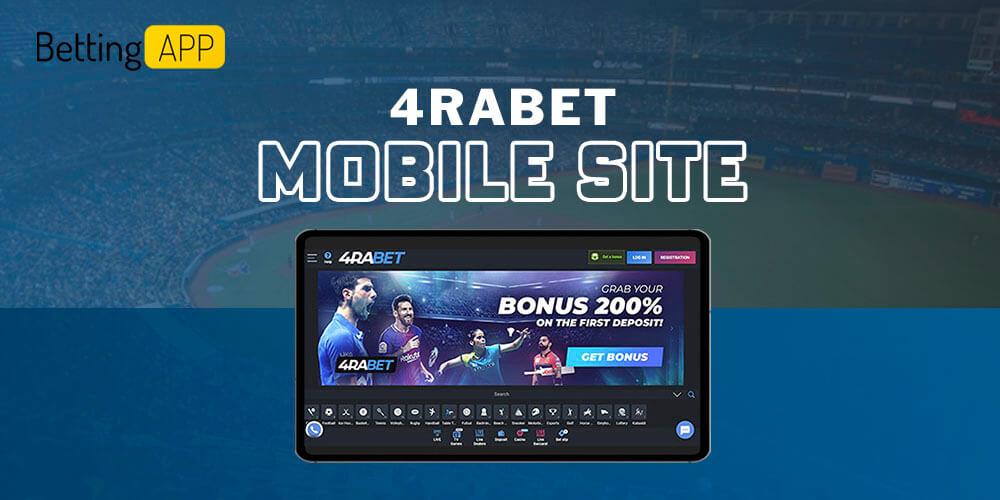 4rabet mobile site
