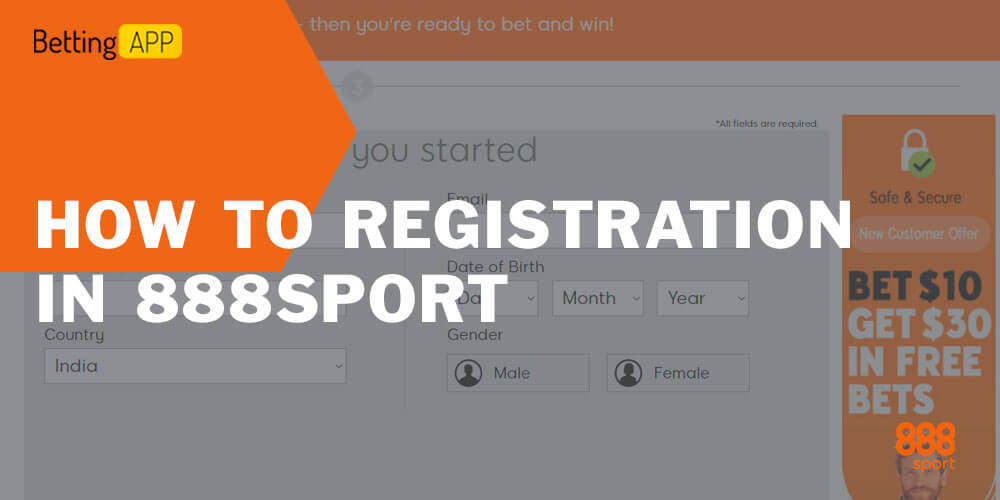 How to Registration in 888sport