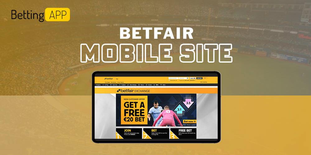 Betfair mobile site