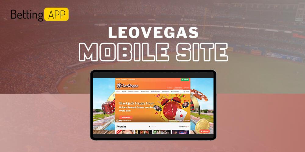 Leovegas mobile site