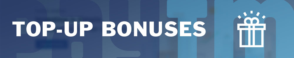 PayTM top-up bonuses