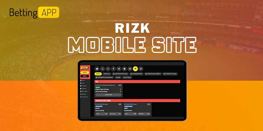Rizk mobile site