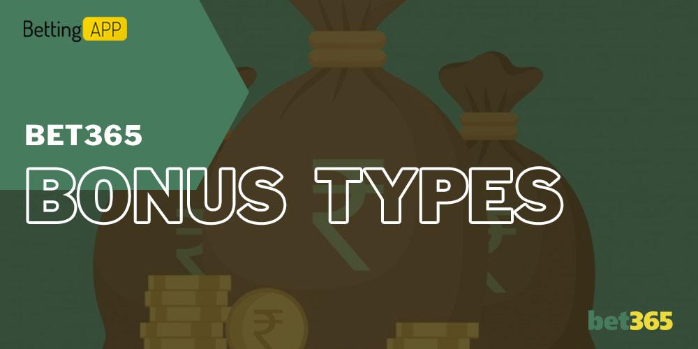 Bet365 bonus types