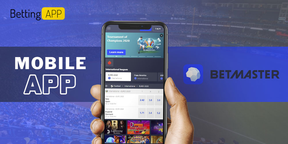 Betmaster mobile app