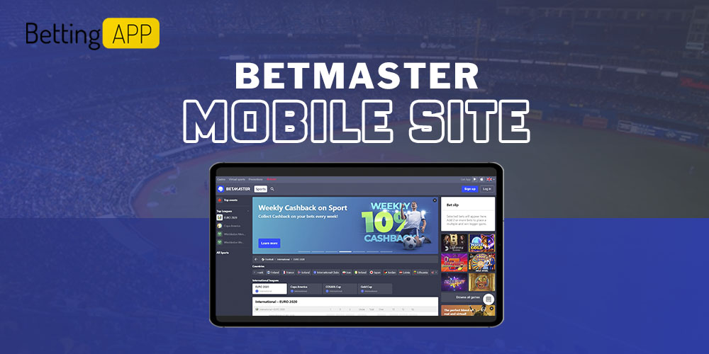 Betmaster mobile site