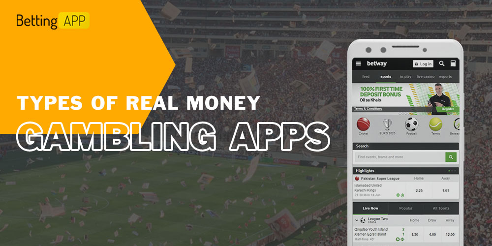 Types of real money gambling apps