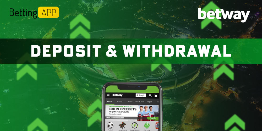 Betway deposit and withdrawal