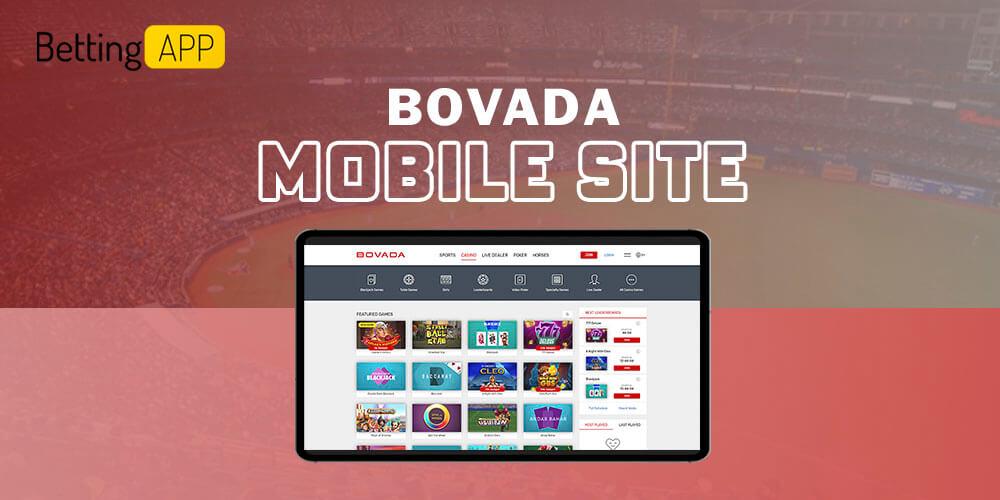 Bovada mobile site