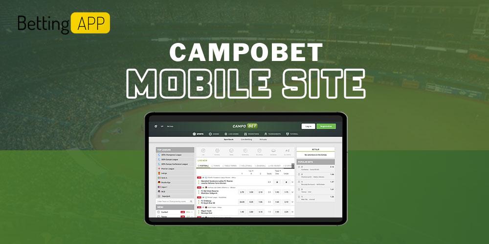 Campobet mobile site