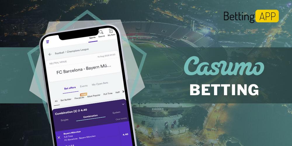 Casumo betting app