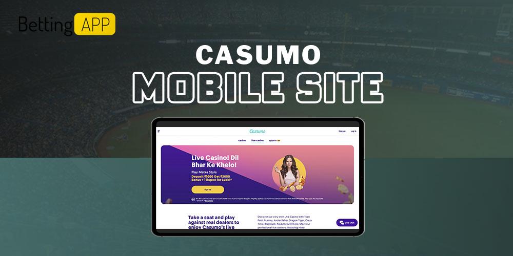 Casumo mobile site