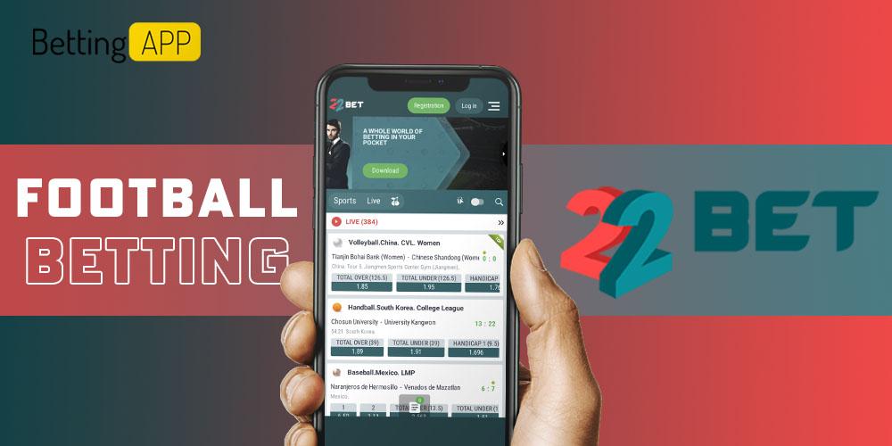 Football betting 22bet