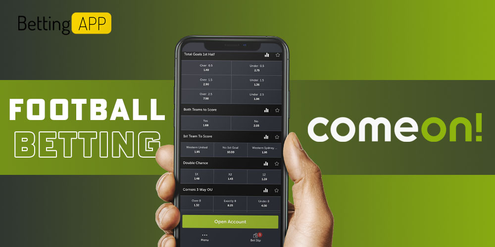 Football betting ComeOn