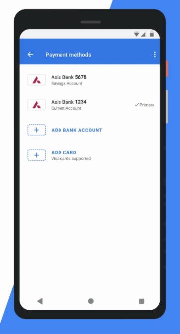 Adding bank to your Google Pay account
