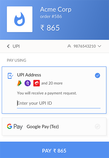 Verifying your Google Pay account