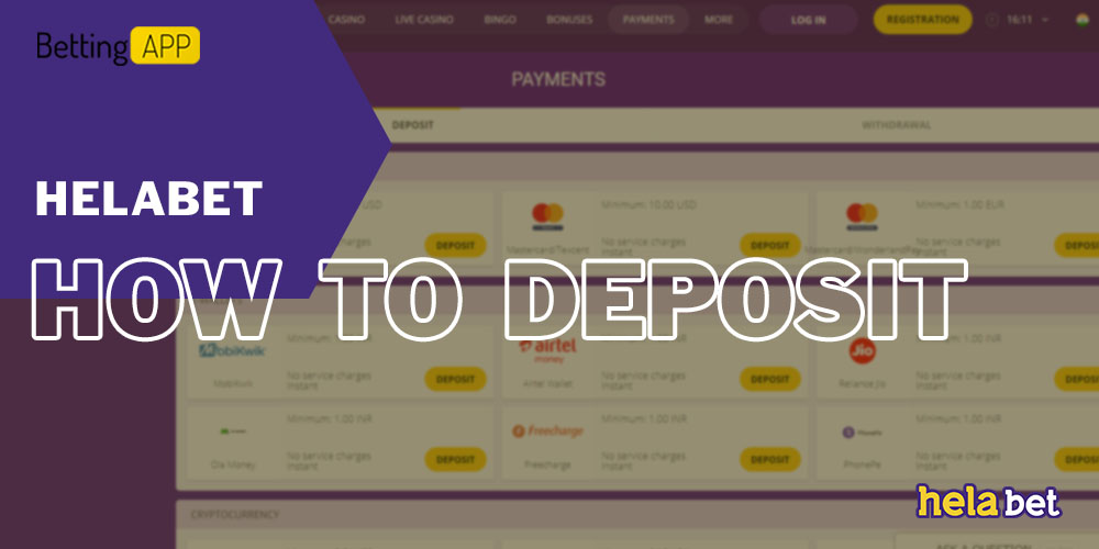 How to Deposit in HelaBet