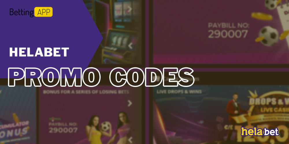 Promo codes for HelaBet