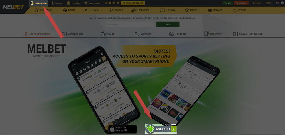 Melbet for android