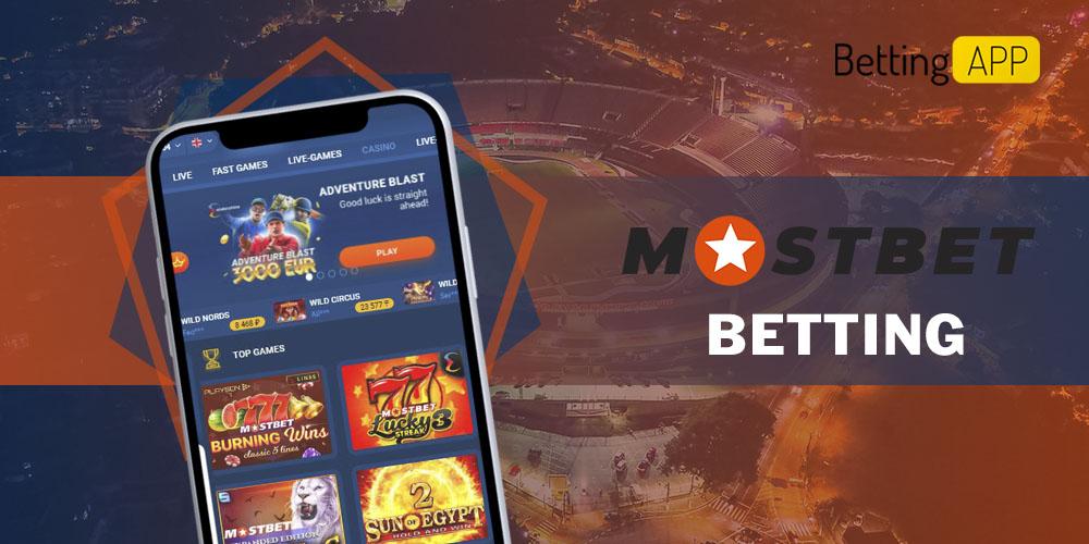 Mostbet betting app