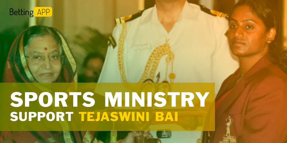 Tejaswini Bai was supported by Sports Ministry