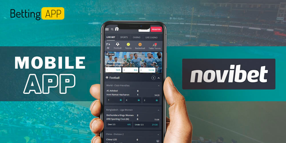 Novibet mobile app