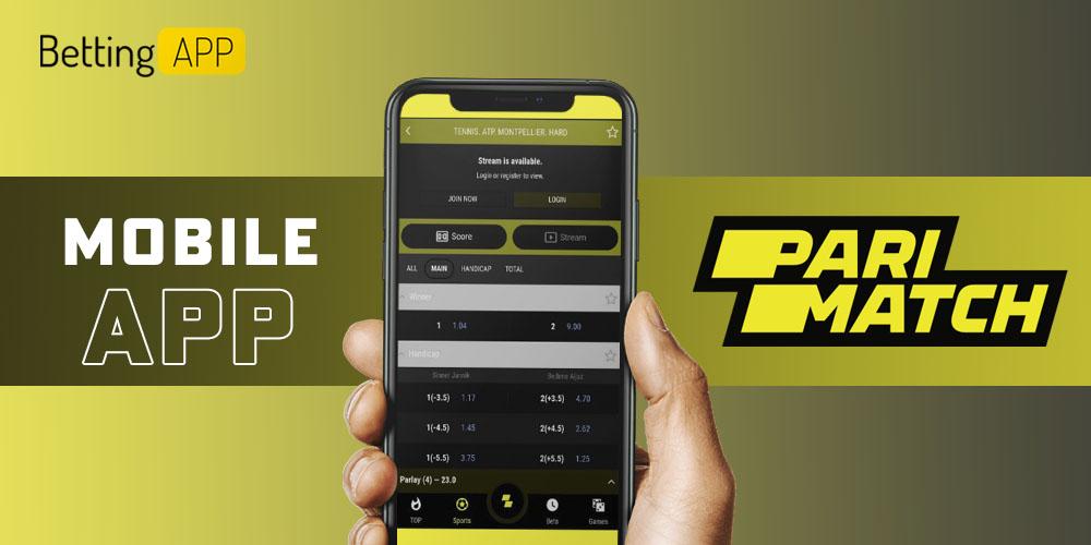 Parimatch mobile app