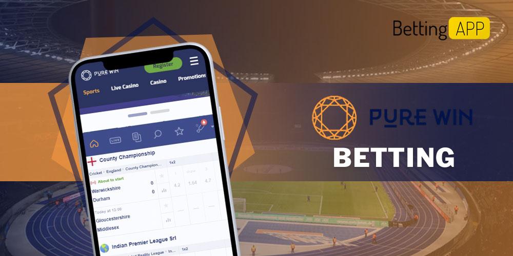 Purewin app betting