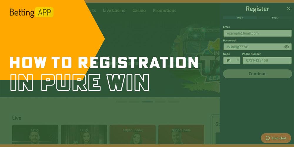 Pure win registration