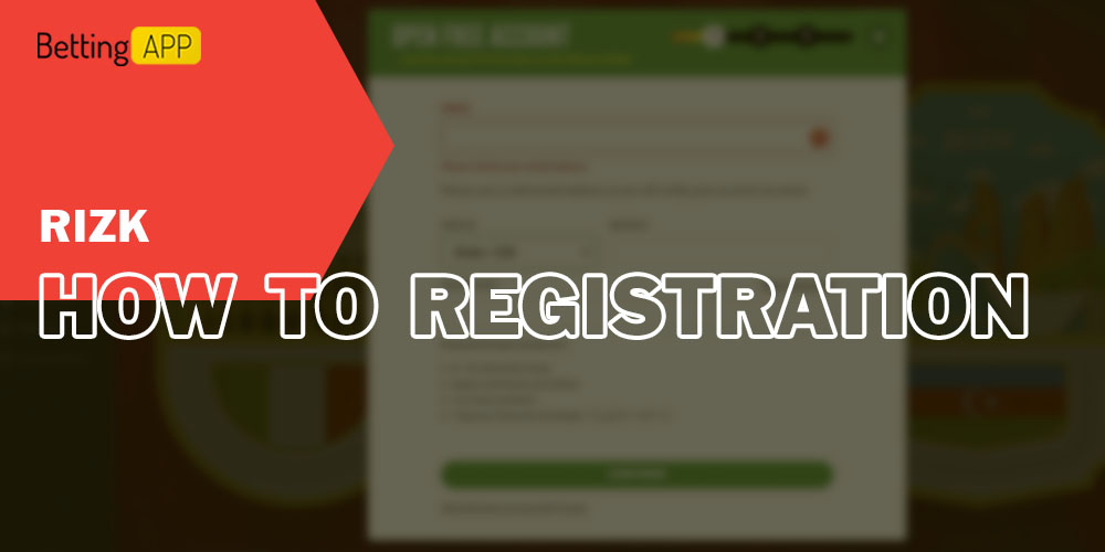 How to Registration in Rizk