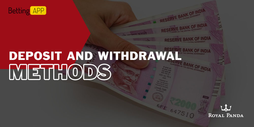 Royal Panda deposit and withdrawal methods