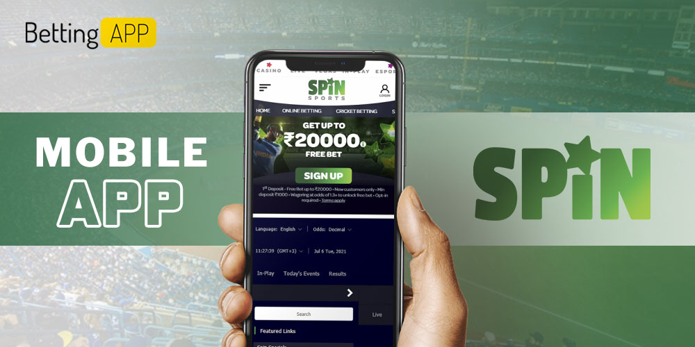 Spinsports mobile app