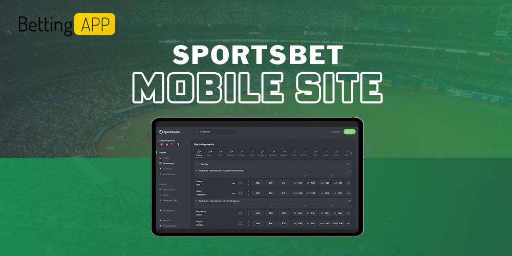Sportsbet mobile site