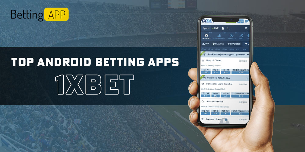 Popular Android betting app 1xbet