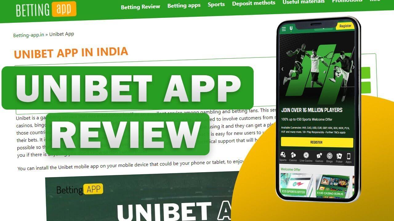 Unibet app video review