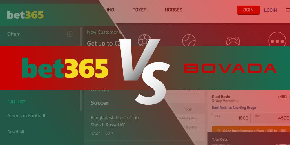 Bet365 vs Bovada