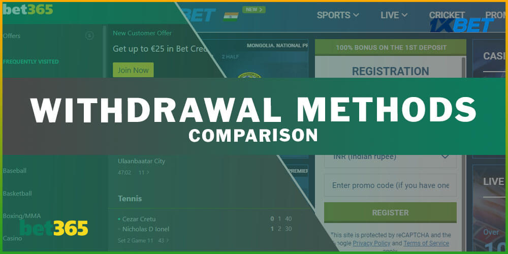 Withdrawal Methods Comparison