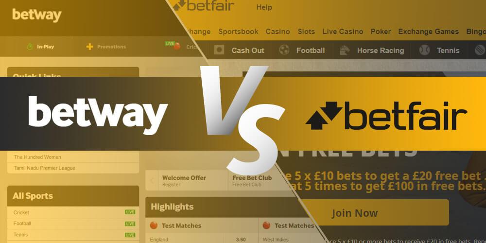 Betway vs Betfair