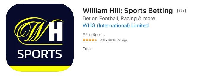 William Hill appstore