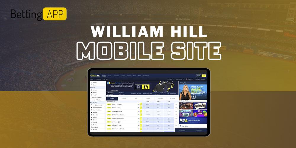 William Hill mobile site